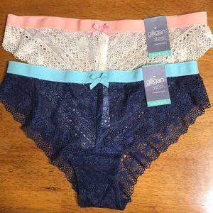 NWT:Set of 2-Gillian&OMalley Cheeky Bikini Panties